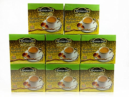 8 Boxes GanoCafe Tongkat Ali Ganoderma Gourmet Coffee (15 Sachets Per Box) by Gano Excel
