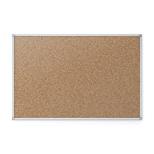 Mead Classic Cork Bulletin Board, Cork Board, 3' x 2',  Aluminum Frame (Mead Metal)