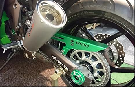 JFG RACING CNC Aluminium Motorrad Kettenschutz Abdeckung Schild Schutz f/ür Kawasaki Z1000 Z1000SX NINJA 1000 2011-2017 Gold