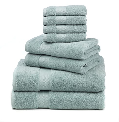 Premium 100% Cotton 8-Piece Towel Set (2 Bath Towels 30