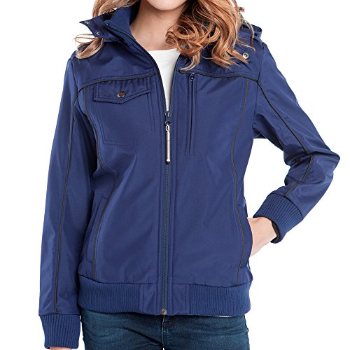 Baubax Travel Jacket - Bomber - Female - Blue - Large by Baubax