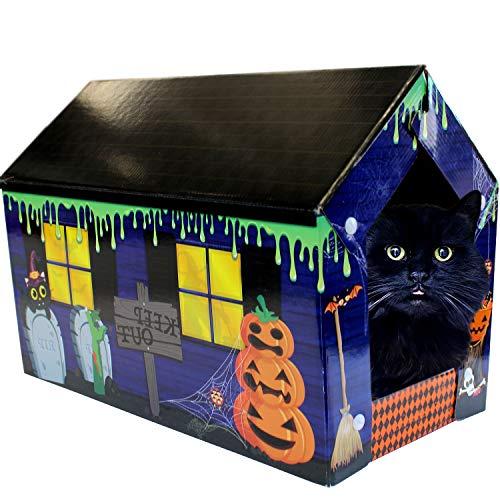 ACC Halloween Cat House & Cat Scratcher w/Bonus Catnip Included -