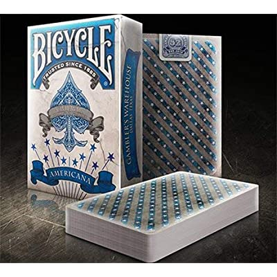 Gamblers Warehouse Bicycle Americana Blue Playing Cards Deck: Toys & Games