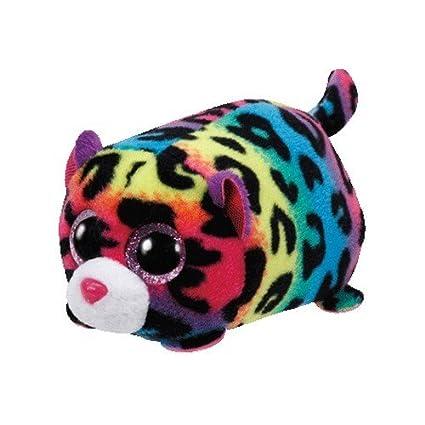 Amazon Com Ty Teeny Tys Jelly The Multicolor Leopard Plush Toys
