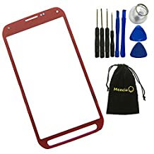 Mencia Screen Glass Lens Replacement For Samsung Galaxy S5 Active G870 G870A With Openning Tools(Red)
