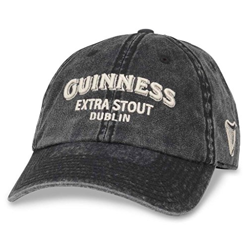 American Needle Elston Casual Baseball Dad Hat Guiness, Black (GUIN-1803A)