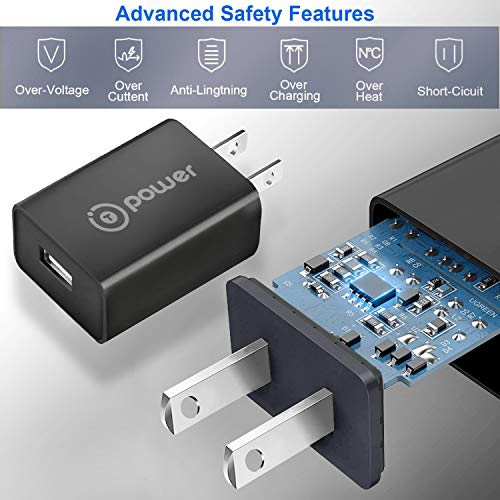T POWER Compatible with for Fugoo ,Anker A3143, Blitzu Cyborg ,Beats Pill, Omaker M4, JBL, Bose, iHome, UE BOOM, Jawbone Wireless Portable Speakers (5v) Ac Dc Adapter Charger Power Supply with two 6ft cord