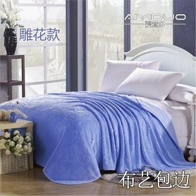 Znzbzt small blanket afternoon nap office single cute mini cover and small blankets winter student adult thick warm ,230x250cm [thick package of health, blue dream blue