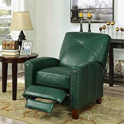 Matias Top Grain Leather Pushback Recliner