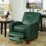 Cheap Matias Top Grain Leather Pushback Recliner