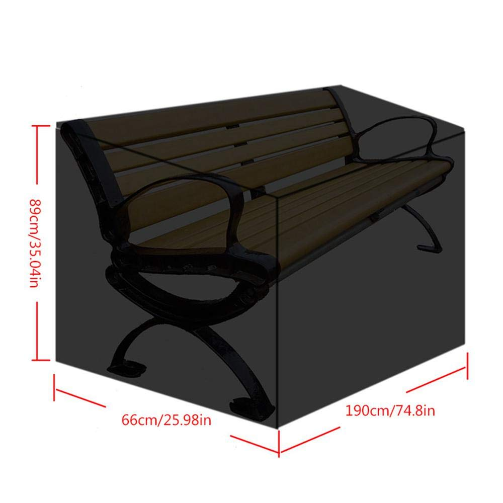 Amazon.com: AOLVO Patio Furniture Covers, 3 Seat Outdoor Sofa Cover ...