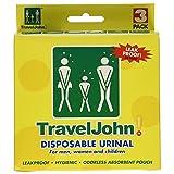 TravelJohn Disposable Urinal for Men, Women & Children 3 ea (Pack of 2)