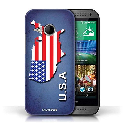 Kobalt® Imprimé Etui / Coque pour HTC One/1 Mini 2 / Amérique/Américain/USA conception / Série Drapeau Pays