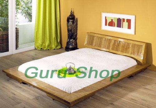 Bambusbett `Tiam` in vielen Größen / Möbel und Kolonialstilmöbel/ Variante: Größe: 140*200 cm