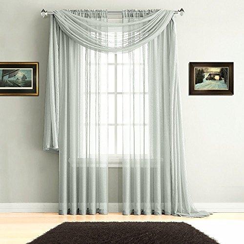 Cheap  Warm Home Designs Premium Quality 54 X 216 Inches Sheer Light Silver..
