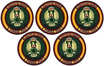 Gemelolandia   Pack de 5 Parches bordados para la ropa Operación Balmis 2020 Operación Militar España 8 cm Parche Hook and Loop Unidades Militares Españolas   Muy Adherentes   Patch Stickers: Amazon.es: Ropa y accesorios