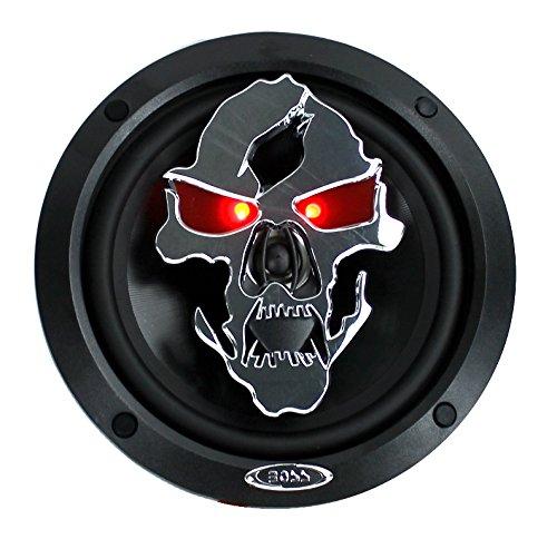 "4) NEW BOSS SK652 6.5"" 600W 2-Way Full Range Skull Car Audio Speakers 2 PAIR"