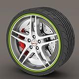 Kabis Car Rimblades Green Lime Color Alloy Wheel Rim Protector Tyres Tire Guard Rubber Moulding