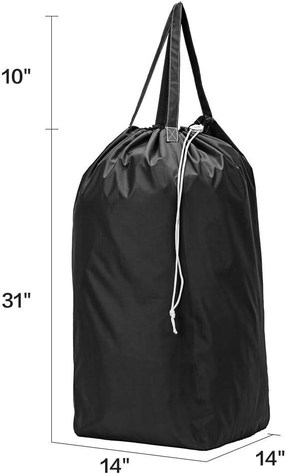 HOMEST 2 Bolsas de lavander/ía de Nailon con Asas Forro Grande para Cesta Lavable a m/áquina Bolsa de Viaje con cord/ón