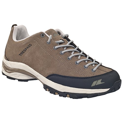 Trespass Romero - Zapatillas de atletismo de cuero para hombre Beige Beige (Fudge) 45