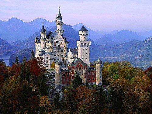 (Canvas Art Print Poster- Neuschwanstein Castle in Autumn, Bavaria, Germany 20x28 inches unframed)