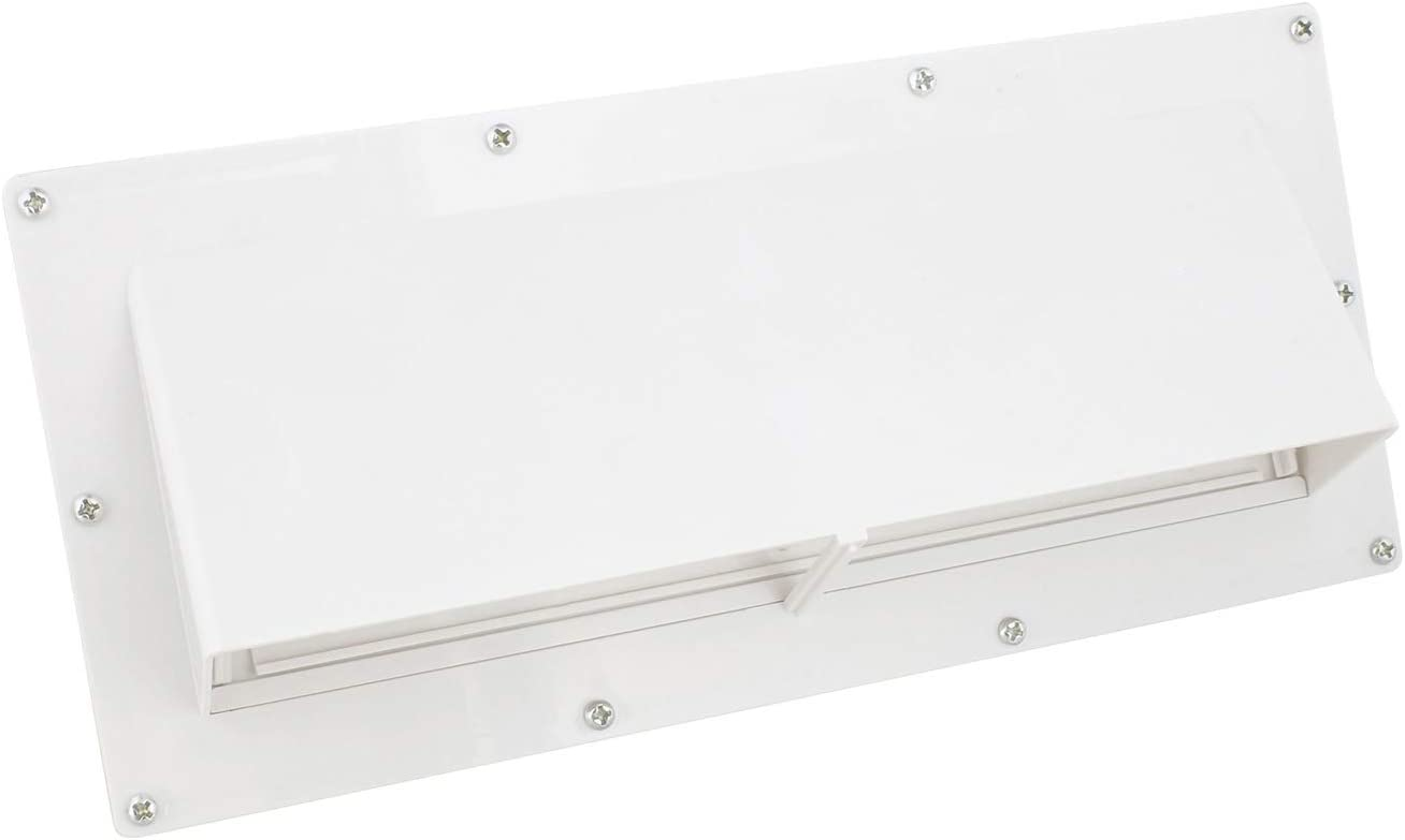 Dumble RV Range Vent Cover Exterior Vent with Locking Damper and Screws, RV Exhaust Vent Cover for RV Stove Vent - White
