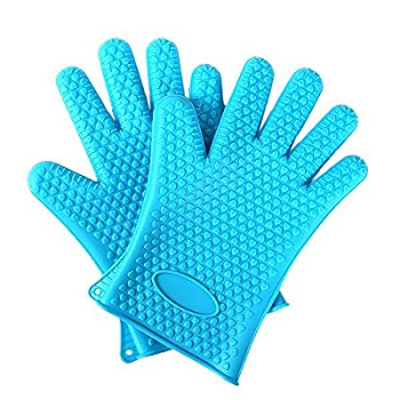 Toku Best Versatile Heat Resistant BBQ Grill Gloves, Barbecue Mitt, Protect Your Hands (Assorted Color, 1 Pair)