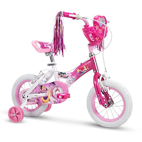 "12"" Disney Princess Girls Bike by Huffy, Choose Your Own Princess Basket"