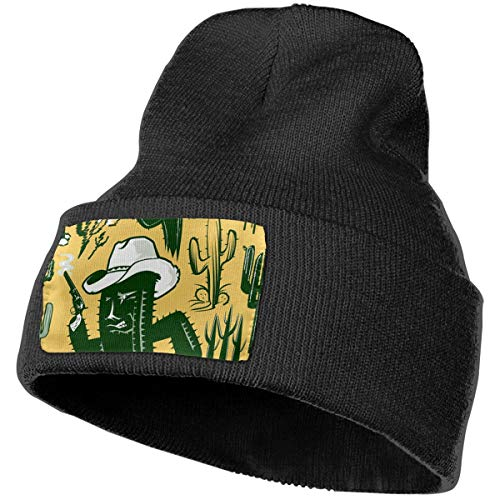 Horizon-t Western Cactus Unisex 100% Acrylic Knitting Hat Cap Fashion Beanie Hat ()