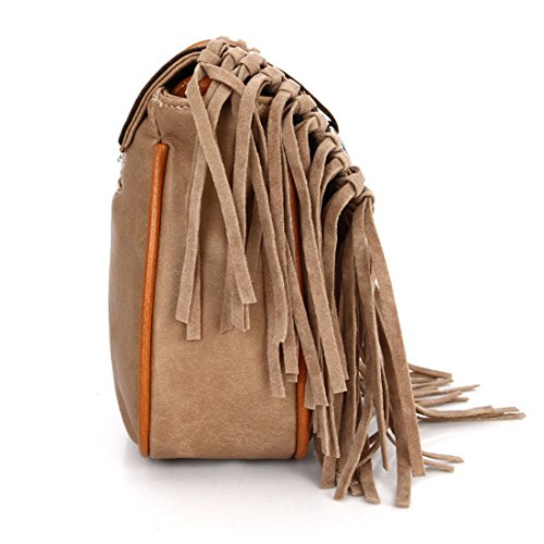 Bag Style Holiday Body Flap for Saddle with Mini Purse Festival Cross Women Handbag Hippy Tassel Top Retro Brown Bag wP0RI