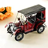 Retro Nostalgia Iron Crafts Metal Antique car model desktop Children Car Toys Birthday Gift home Accessory ( Color : Blue )