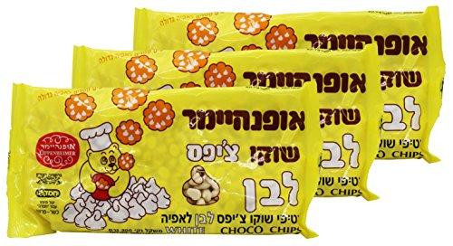 Oppenheimer Kosher Vegan Lactose Free White Chocolate Chips 3 Packs