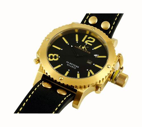 Adee Kaye Men's AK7211-MG Analog Display Japanese Quartz Black Watch