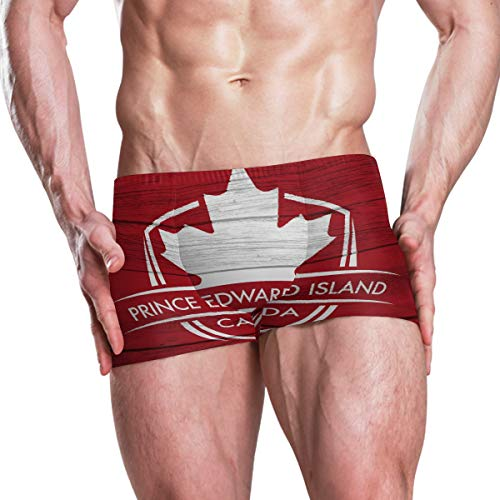 - Prince Edward Island Province Canada Maple Leaf Flag Men's Swim Trunks Swimming Briefs Beach Shorts Boxer Briefs