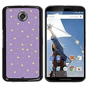 Caucho caso de Shell duro de la cubierta de accesorios de protección BY RAYDREAMMM - Motorola NEXUS 6 / X / Moto X Pro - Yellow Night Sky Wallpaper