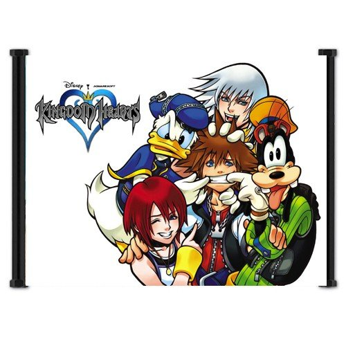 Kingdom Hearts Game Fabric Wall Scroll Poster