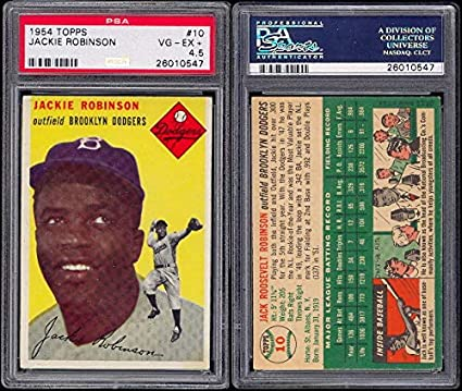 Amazoncom 1954 Topps Regular Baseball Card10 Psa5 Jackie
