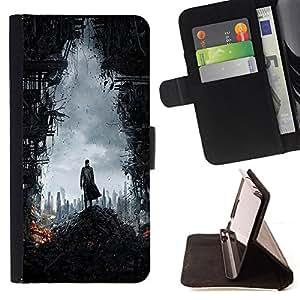 BullDog Case - FOR/LG G3 / - / war battle soldier city ruins doomsday /- Monedero de cuero de la PU Llevar cubierta de la caja con el ID Credit Card Slots Flip funda de cuer