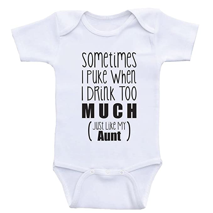 71babcae0 Heart Co Designs Aunt Baby Onesies Just Like My Aunt Funny One Piece Baby  Clothes (