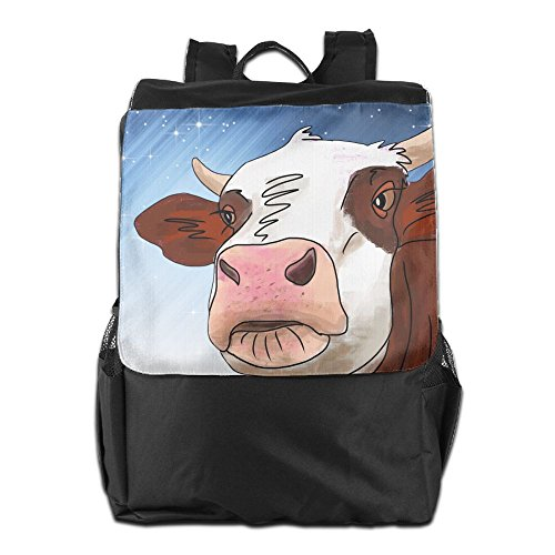 Lightweight Large Capacity Portable Luggage Bag Cow Cattle Travel Duffel Bag Backpack