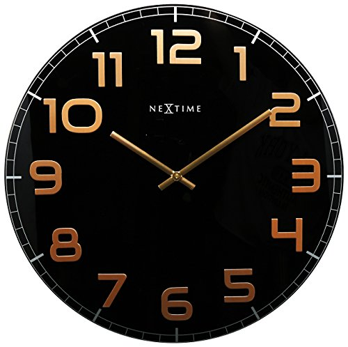 Unek Goods Classy Wall Clock, Decorative Shiny Copper Big