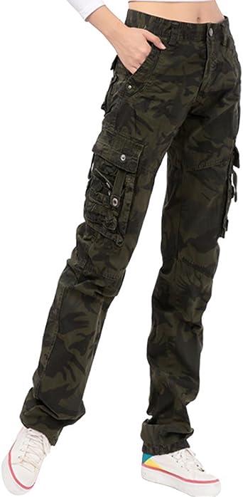 Ghope Femme Pantalon Treillis Cargo Léger
