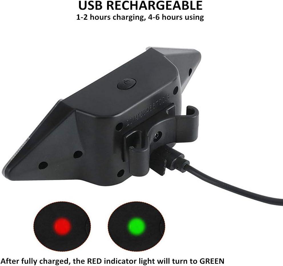 R/ücklicht mit Blinker Stroboskoplicht 5 Leuchtmodi Sicherheitswarnung WASAGA Fahrrad-Blinklicht mit Fernbedienung kabellos f/ür Radfahrer