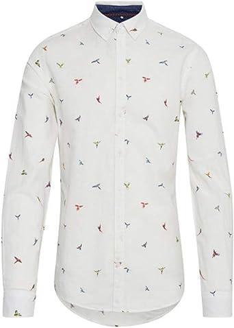 BLEND HE Camisa 20710427 Hombre XL Blanco: Amazon.es: Ropa y accesorios
