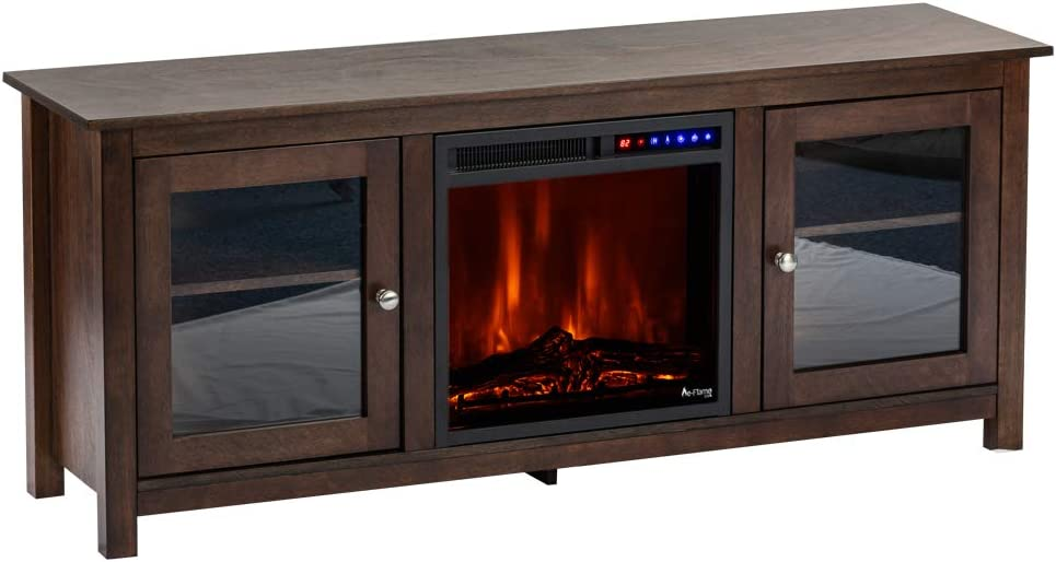 e-Flame USA Montana Electric Fireplace Stove TV Stand - 58