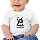 Sfjgbfjs White Baby I Will Find You I Will Lick You T-Shirt 6M Soft Cozy Infant Short Sleeve Undershirts