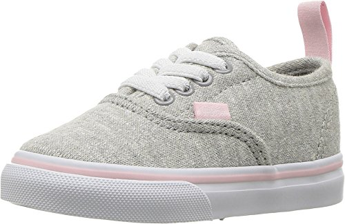 Vans Toddler Authentic (Q6I) (Shimmer Jersey) Gray/Pink VN0A38E8Q6I Toddler Size 6.5 ()