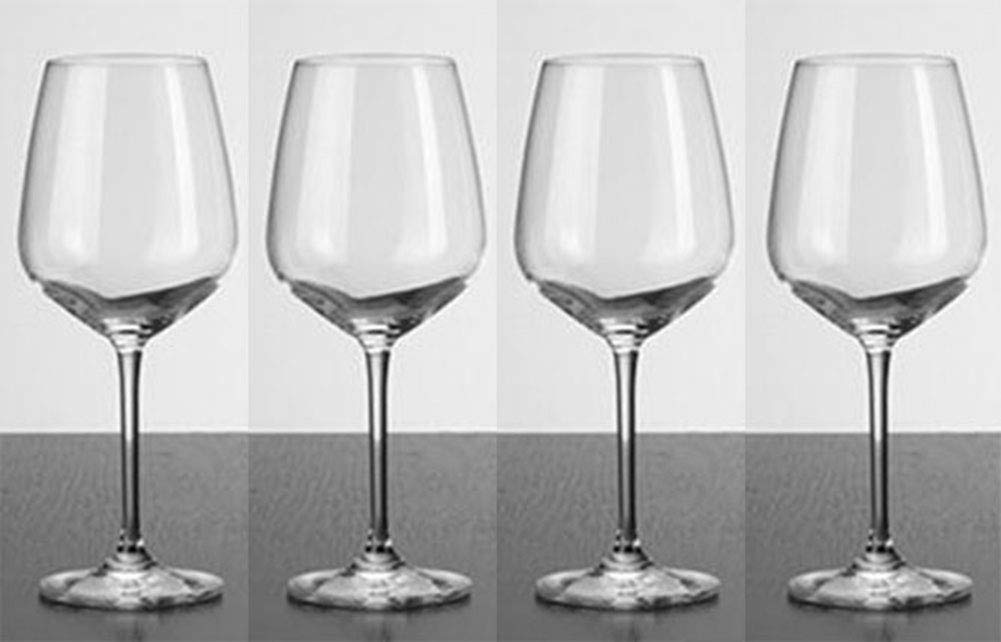 Kefbhefe Crystal Glass Red Wine Glass, Household Lead-Free Goblet, Bar Handmade Red Wine Glass, 518ML, 2, 4, 6,Package1:4Cups