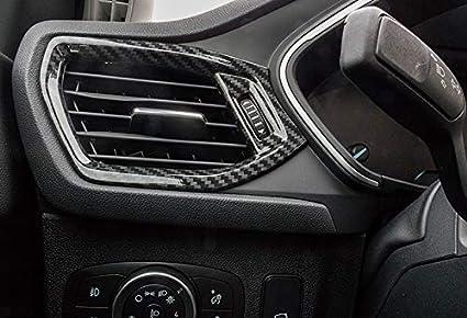 HIGH FLYING Para Focus 2019 5 puertas//Sportbreak Color de fibra de carbono ABS Pl/ástico Ventilaci/ón Molduras Interiores 2 piezas
