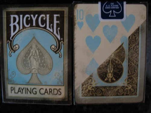 Bicycle Dirty sbiadita Vintage Teal Marronee Playing Cards by Bicycle